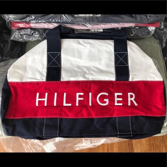 c7ff94d4a8 Tommy Hilfiger Bags   Duffle Bag Tommy Patriot Colorblock   Poshmark